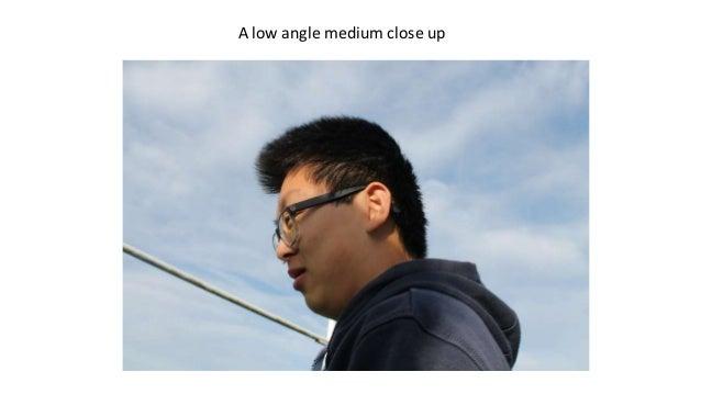 A low angle medium close up