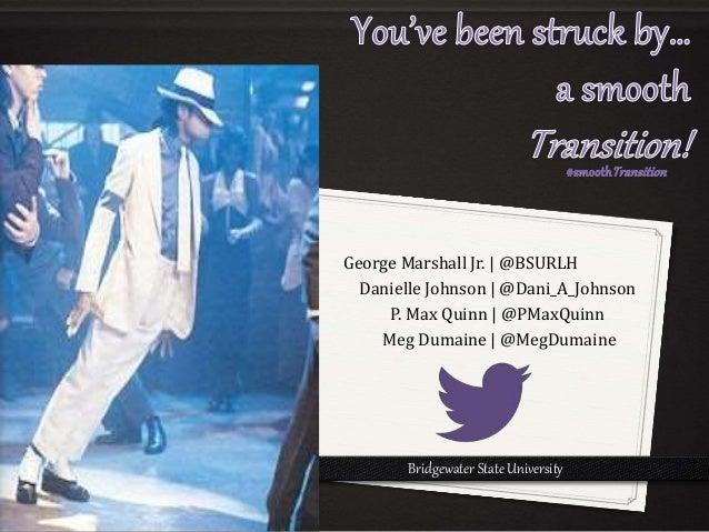 George Marshall Jr. | @BSURLH  Danielle Johnson | @Dani_A_Johnson  P. Max Quinn | @PMaxQuinn  Meg Dumaine | @MegDumaine  B...