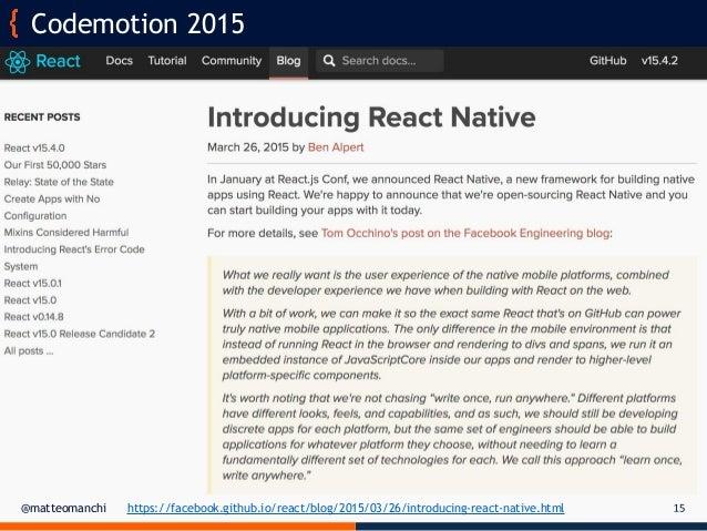 React Native for multi-platform mobile applications - Matteo Manchi …