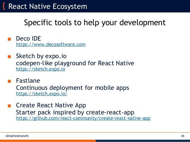 React Native for multi-platform mobile applications - Matteo Manchi …