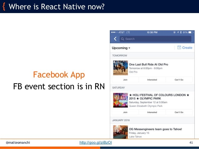 React Native for multi-platform mobile applications - Matteo