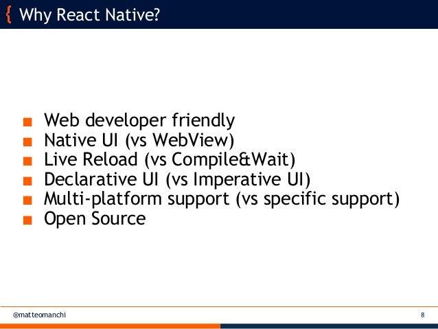 React Native for multi-platform mobile applications - Matteo