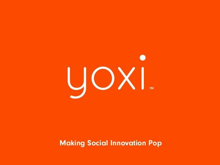 Making Social Innovation Pop