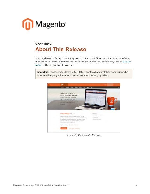 magento community edition user guide rh slideshare net magento community edition 2.2 user guide magento community edition user guide 1.9