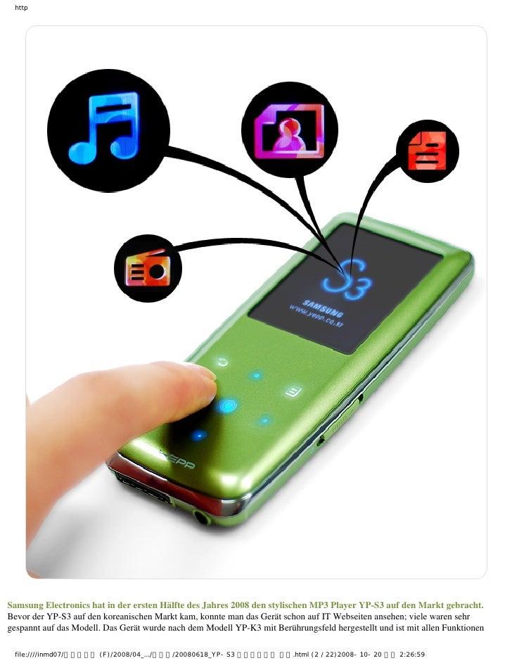 DER BESTE MP3 YP-S3 VORSCHAU.2 Slide 2