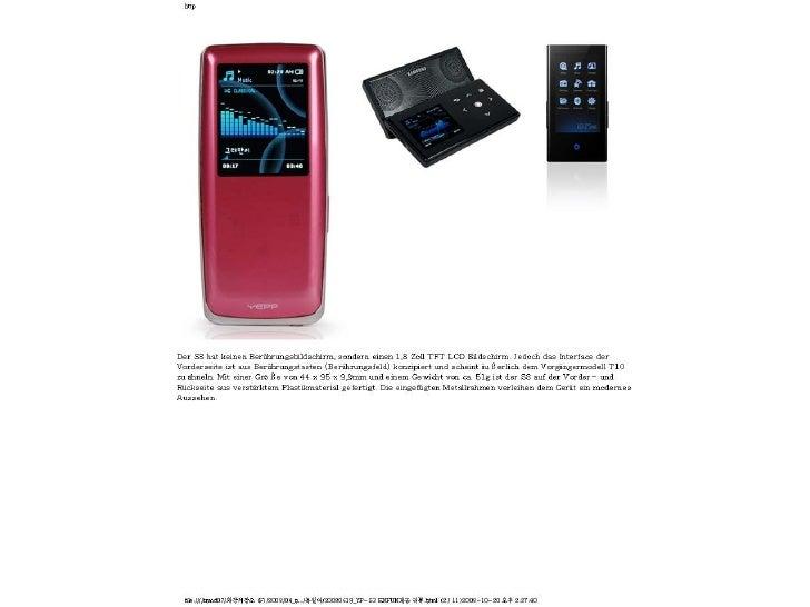 [Vorschau] SAMSUNG YP-S3 MP3 PLAYER Slide 2