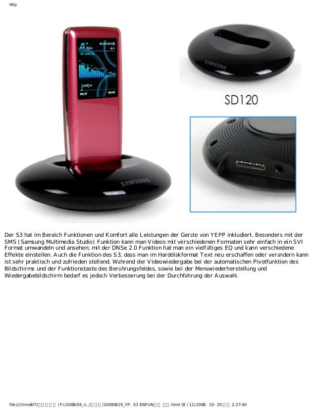 http Der S3 hat im Bereich Funktionen und Komfort alle Leistungen der Geräte von YEPP inkludiert. Besonders mit der SMS (S...