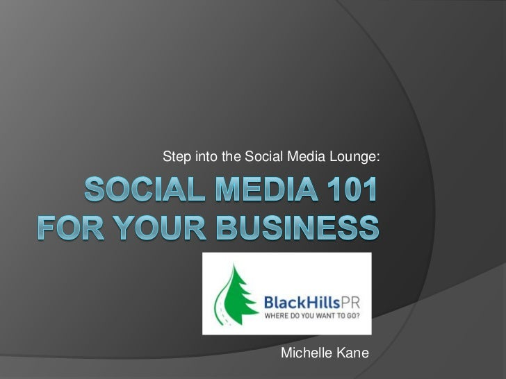 Step into the Social Media Lounge:                  Michelle Kane