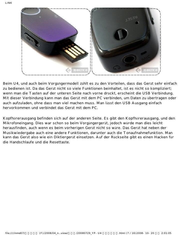 LINKBeim U4, und auch beim Vorgängermodell zählt es zu den Vorteilen, dass das Gerät sehr einfachzu bedienen ist. Da das G...