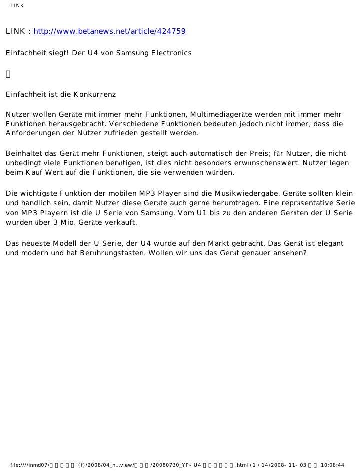 LINKLINK : http://www.betanews.net/article/424759Einfachheit siegt! Der U4 von Samsung Electronics Einfachheit ist die Kon...