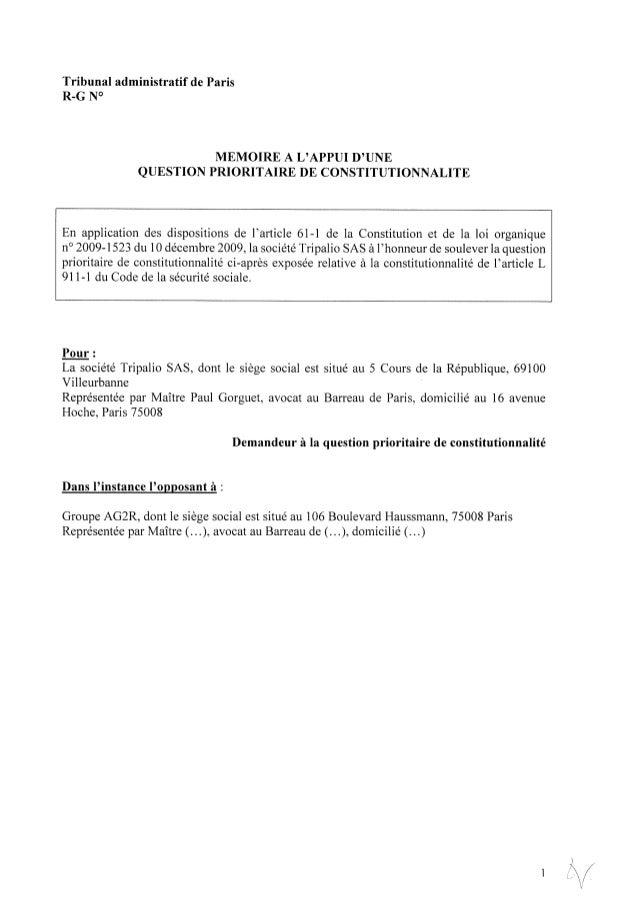 Inversion de la hiérarchie des normes: QPC Tripalio