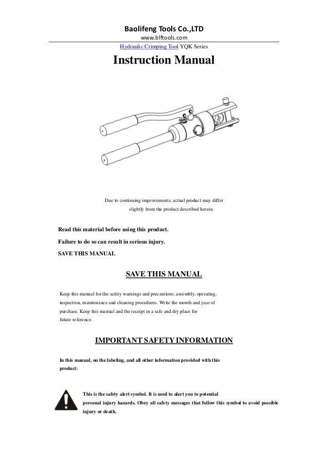yqk series yqk 240 yqk 300 hydraulic crimping tool. Black Bedroom Furniture Sets. Home Design Ideas