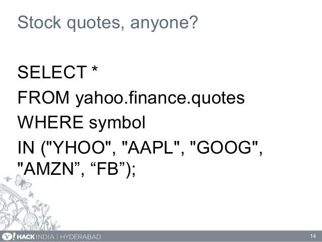 Yahoo Stock Api