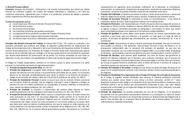 1  1. Derecho Procesal Laboral  Concepto: Conjunto de principios , instituciones y de normas instrumentales que tienen por...