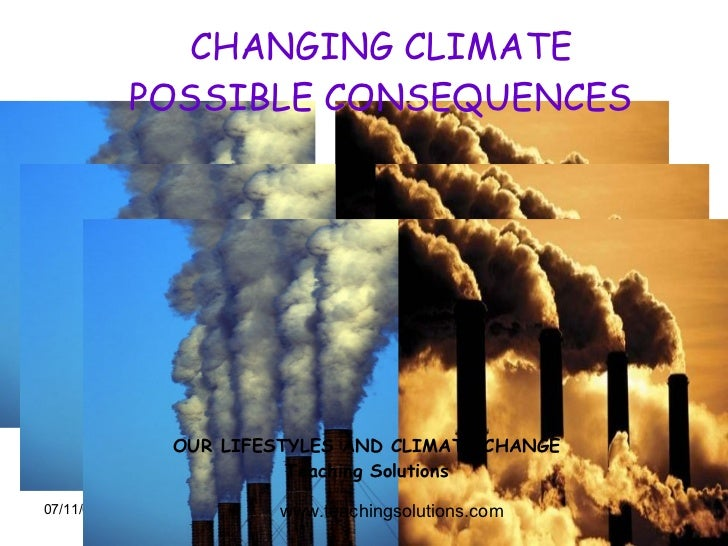 CHANGING CLIMATE POSSIBLE CONSEQUENCES www.teachingsolutions.com OUR LIFESTYLES AND CLIMATE CHANGE Teaching Solutions
