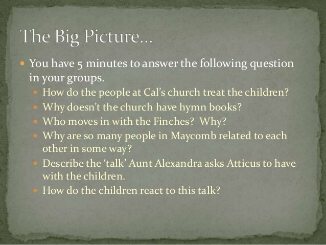 tkam some of the questions To kill a mockingbird unit plan submitted by: includes teacher's discussion questions to kill a mockingbird.
