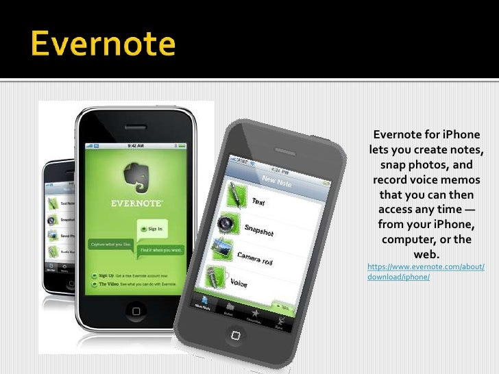 Evernote<br />Needs to be downloaded and installed on your computer  <br />