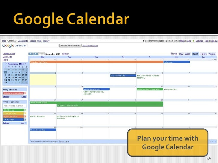 <ul><li>Be able to see the big picture – use a yearly or term planner and use a monthly calendar as an overview