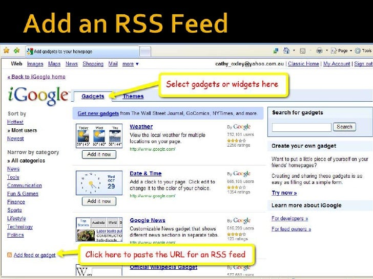 Finding Feeds<br />Topix.net - This search tool allows you to locate recent newsfeed items based upon keyword or phrase se...