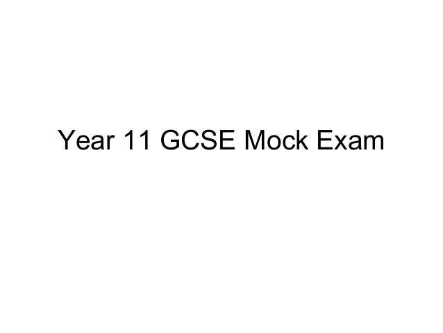Year 11 GCSE Mock Exam
