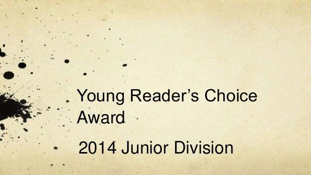 Young Reader's Choice Award 2014 Junior Division