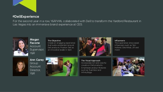 #DellExperience For the second year in a row, Y&R/VML collaborated with Dell to transform the Yardbird Restaurant in Las V...