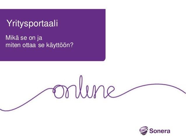 Yritysportaali - Sonera