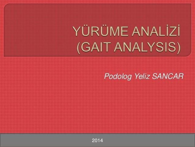 Podolog Yeliz SANCAR 2014