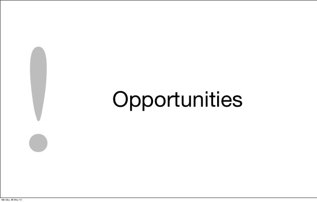 Opportunities !Monday, 26 May 14