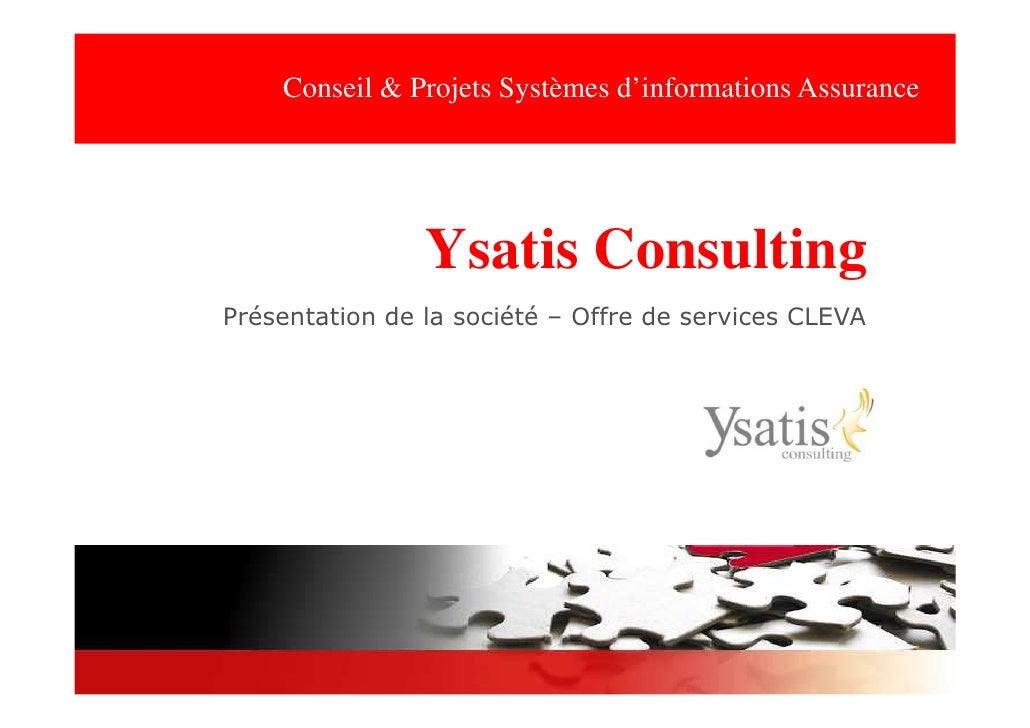Ysatis Consulting - Offre Expertise Progiciel