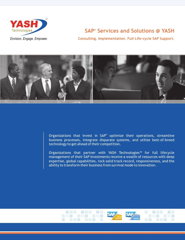 TM                           SAP® Services and Solutions @ YASH                       Consulting. Implementation. Full Lif...