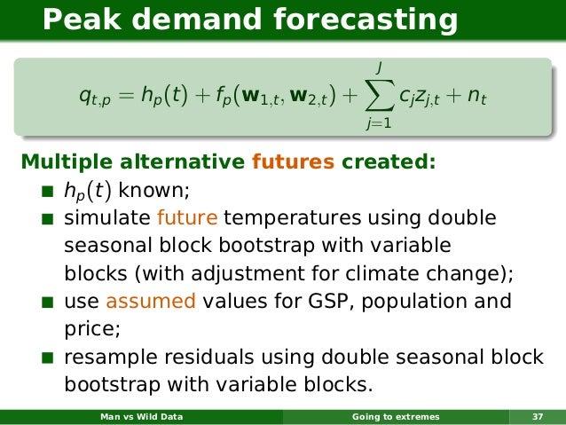 Peak demand forecasting                                             J     qt,p = hp (t ) + fp (w1,t , w2,t ) +         cj ...