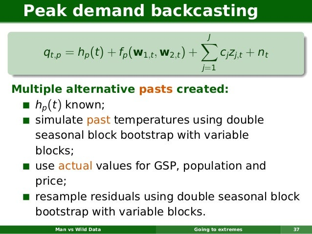 Peak demand backcasting                                             J     qt,p = hp (t ) + fp (w1,t , w2,t ) +         cj ...