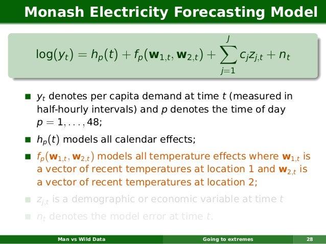 Monash Electricity Forecasting Model                                                J log(yt ) = hp (t ) + fp (w1,t , w2,t...