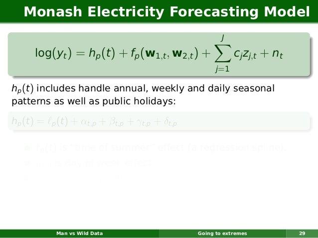 Monash Electricity Forecasting Model                                                           J      log(yt ) = hp (t ) +...