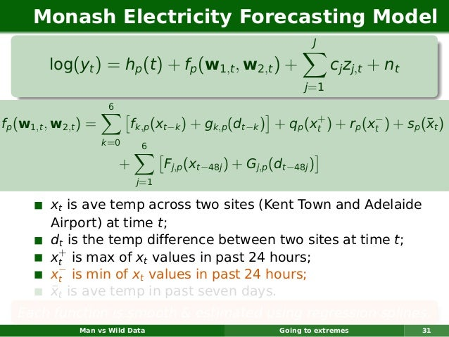 Monash Electricity Forecasting Model                                                                    J         log(yt )...