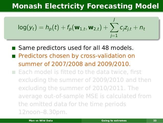 Monash Electricity Forecasting Model                                              J log(yt ) = hp (t ) + fp (w1,t , w2,t )...