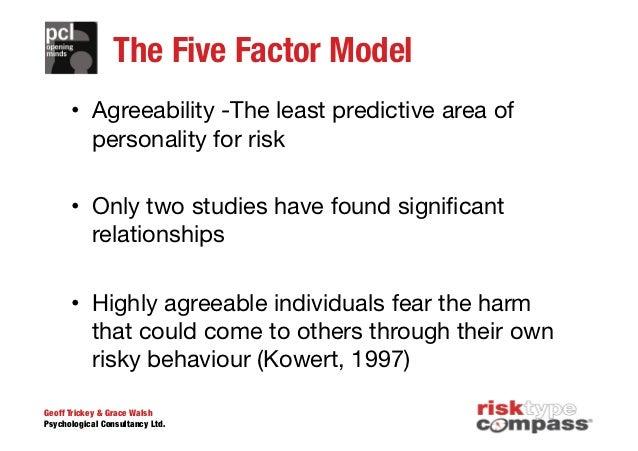 mccrae costas five factor model The big five/five-factor model of personality mccrae, robert r, and paul t costa jr 2008 the five-factor theory of personality in handbook of personality.