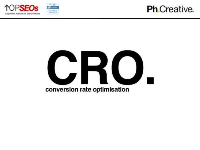 conversion rate optimisation - cro