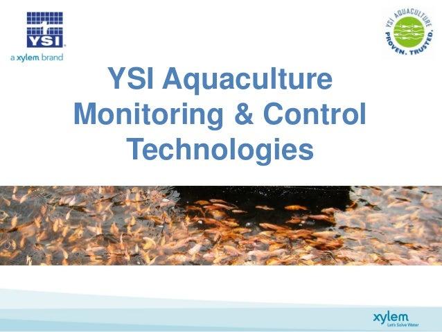 YSI Aquaculture Monitoring & Control Technologies