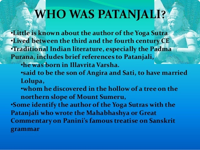 The Yoga Sutras of Patanjali - Internet Sacred Text Archive