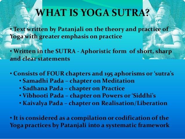 Yogasutra Of Patanjali Presentation