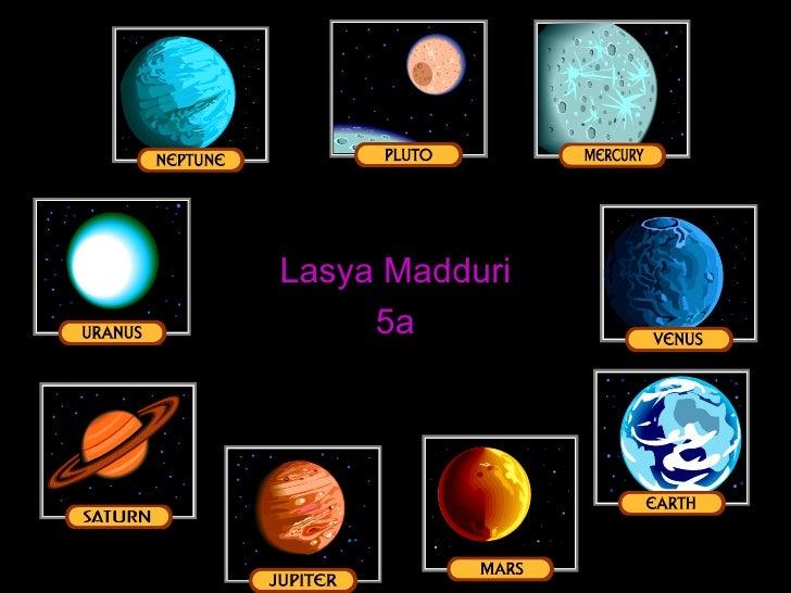 The Solar System Lasya Madduri 5a