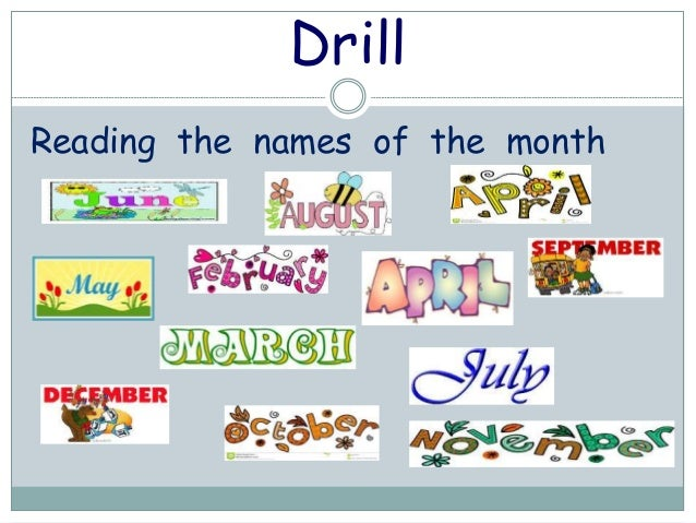 Number Names Worksheets : the months of the year The Months Of The ...