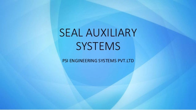 Mechanical Seal Aux Systems