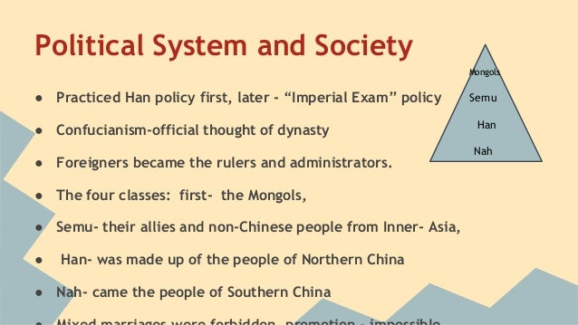 the social structure of the ming dynasty The qing dynasty reign was strict about its social structure which dictated who  has power over whom this often led to abuses of power and plots to take.