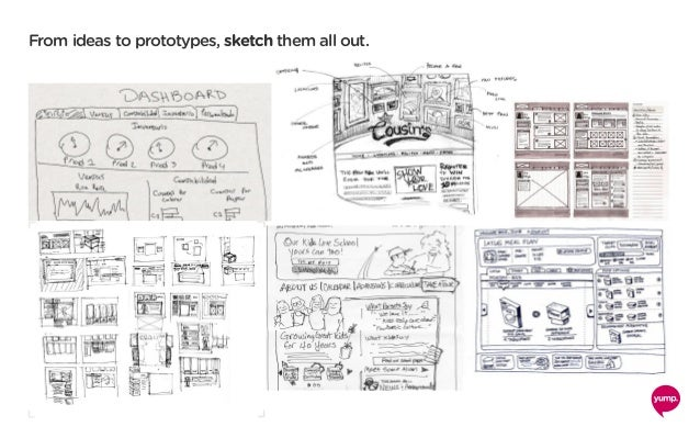 From ideas to prototypes, sketch them all out.