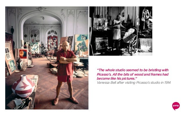 """""""The whole studio seemed to be bristling with Picasso's. All the bits of wood and frames had become like his pictures."""" Va..."""