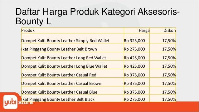 Daftar Harga Produk Kategori Aksesoris- Bounty L Produk Harga Diskon Dompet Kulit Bounty Leather Simply Red Wallet Rp 325,...