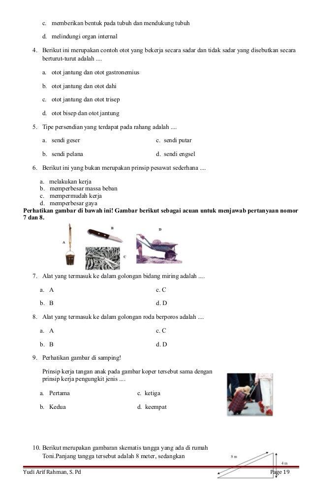 (Yudi 1 spa) rpp rangka otot pesawat sederhana